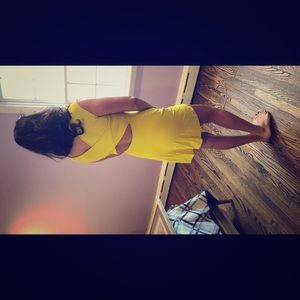 Yellow dress with open back